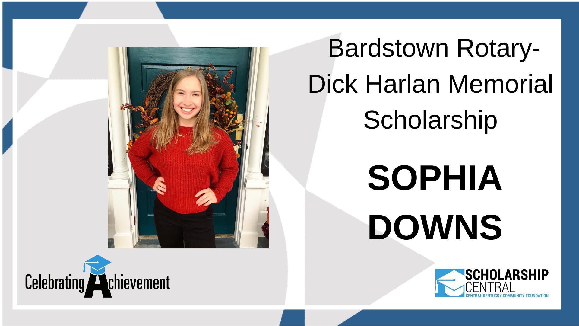 Bardstown Rotary Dick Harlan Memorial Scholarship Winner