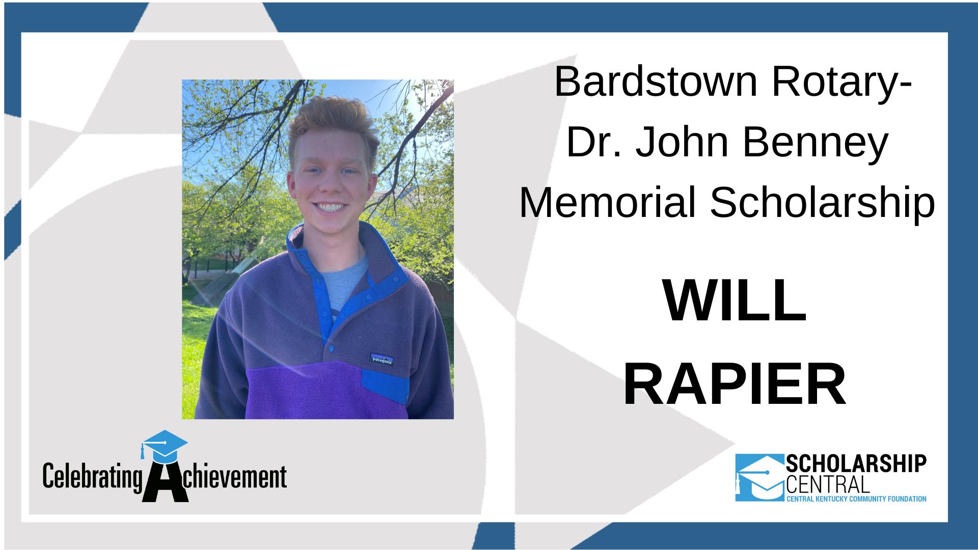 Bardstown Rotary Dr John Benney Memorial Scholarship Winner