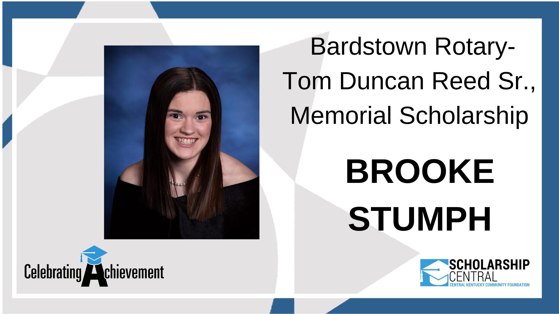 Bardstown Rotary Tom Duncan Reed Sr Memorial Scholarship Winner