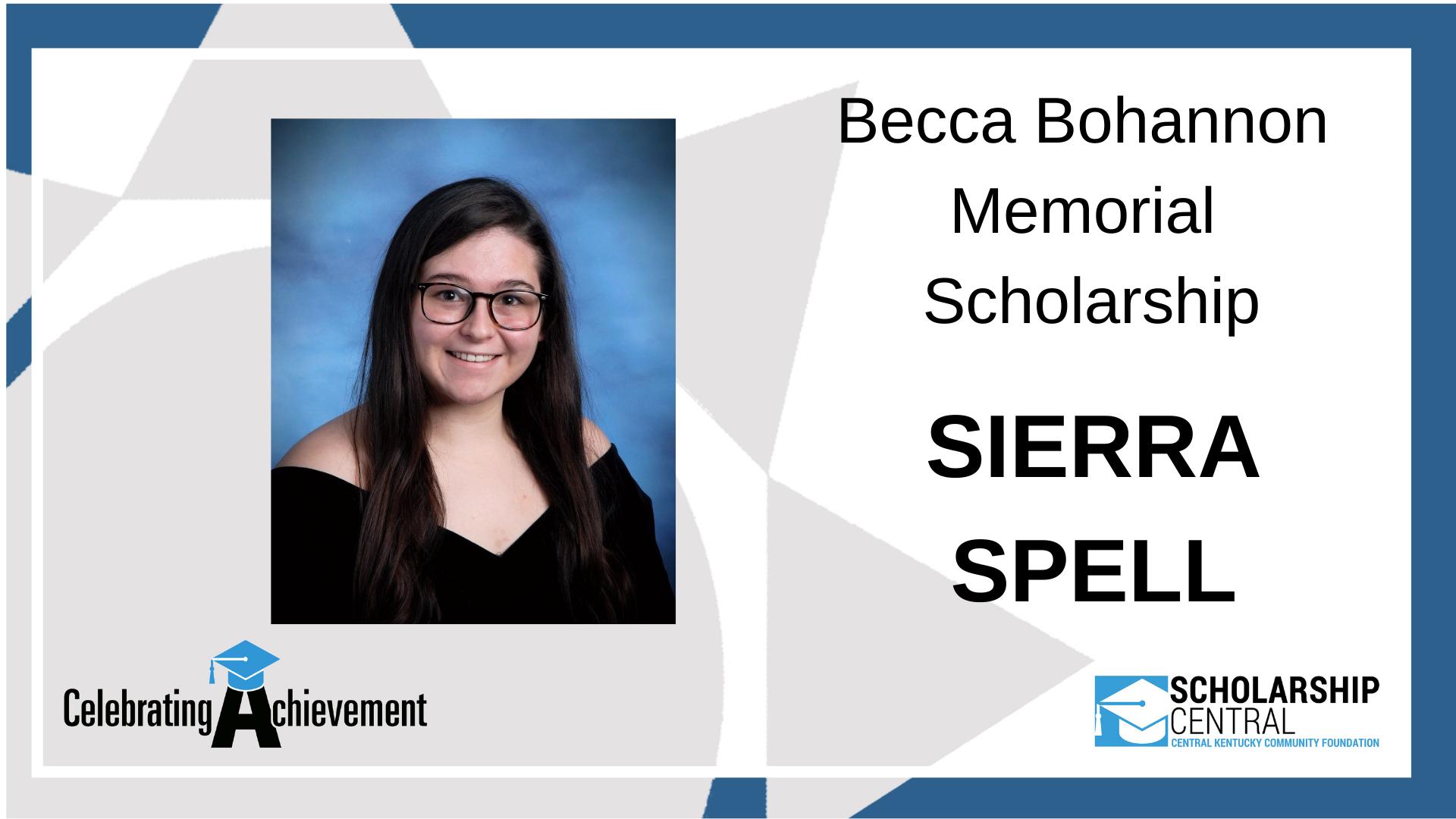 Becca Bohannon Memorial Scholarship Winner