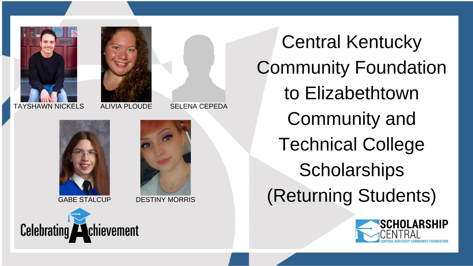 CKCF to ECTC Scholarship RETURNING Winners 2