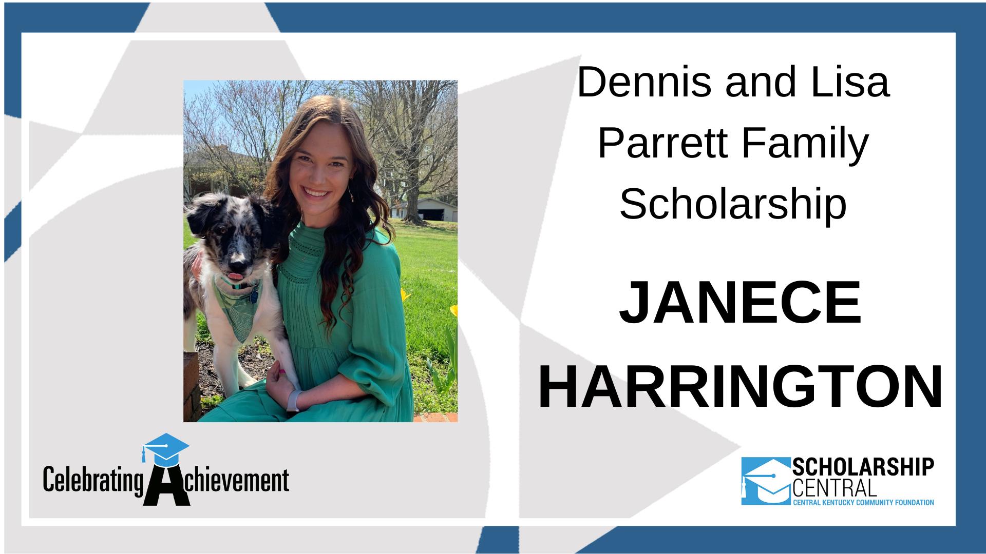 Dennis and Lisa Parrett Family Scholarship Winner
