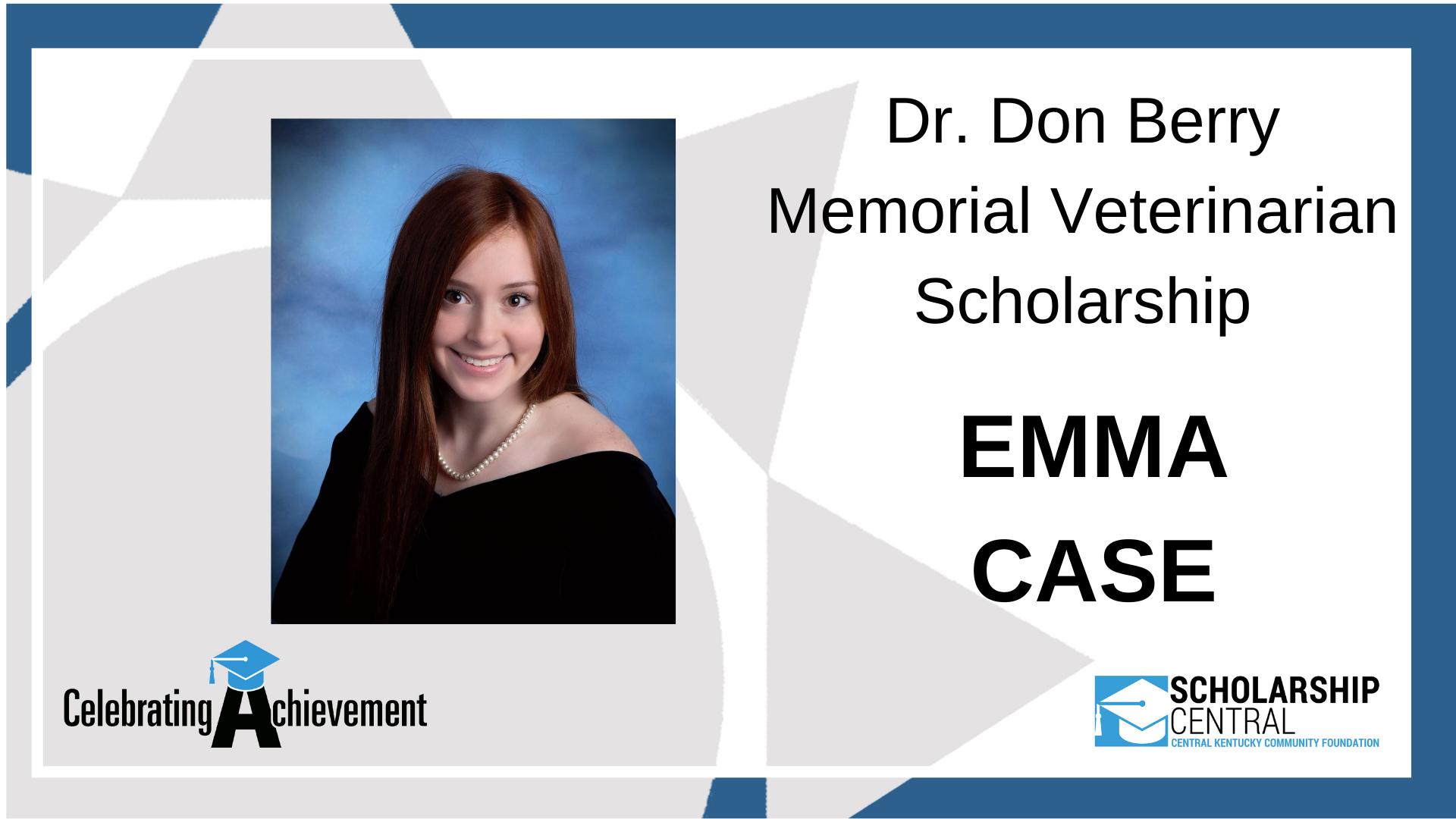 Dr Don Berry Memorial Veterinarian Scholarship Winner