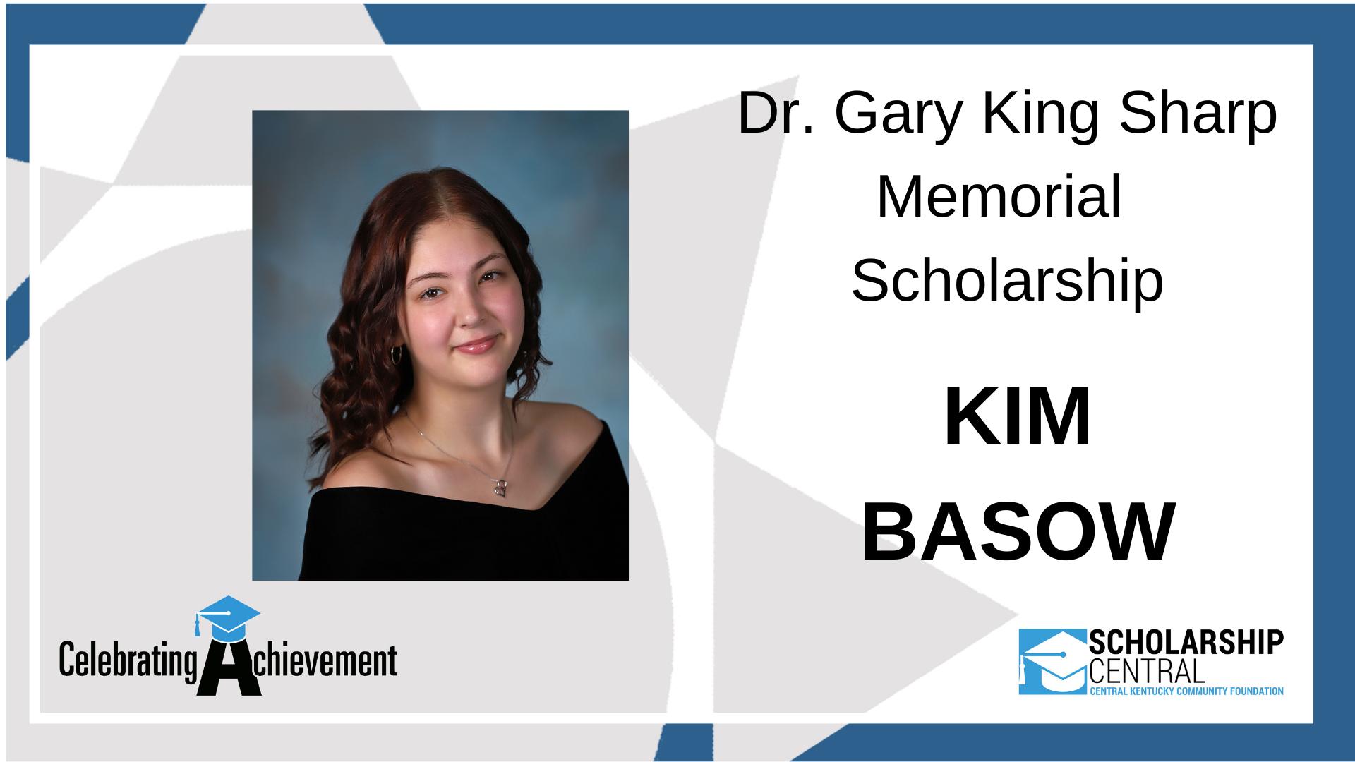 Dr Gary King Sharp Memorial Scholarship Winner