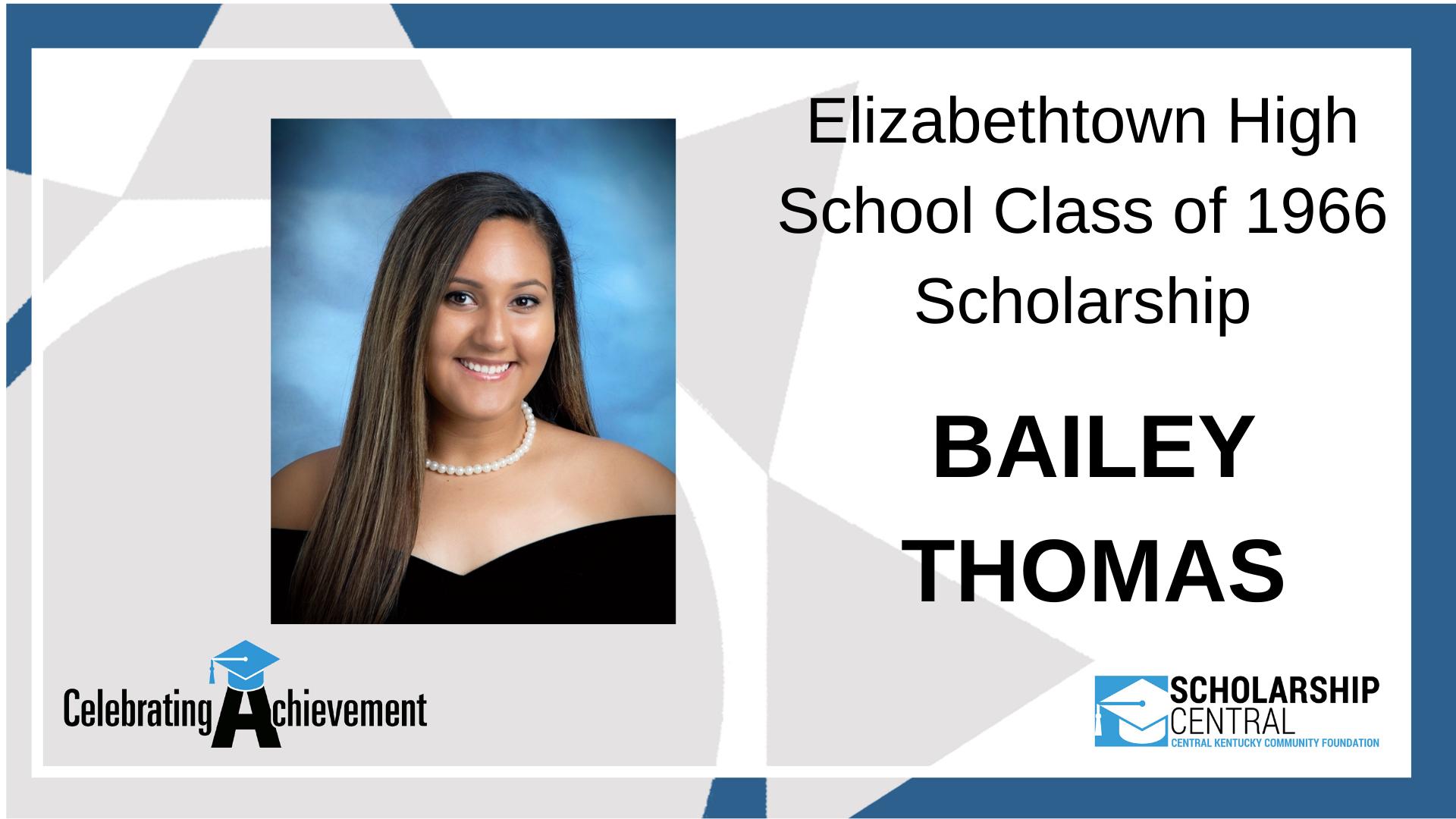 Elizabethtown High Class of 66 Scholarship