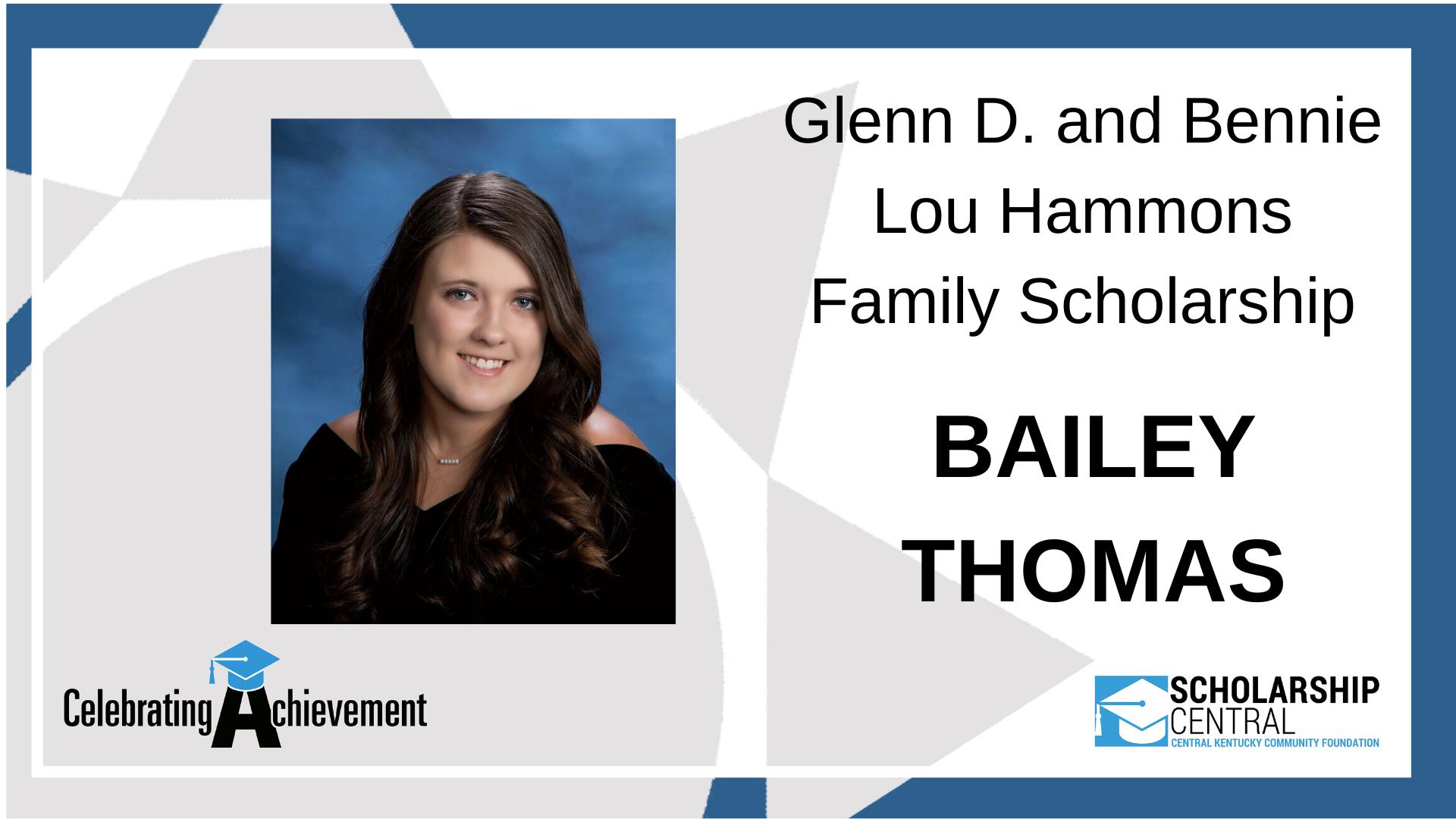 Glenn D and Bennie Lou Hammons Scholarship (1)