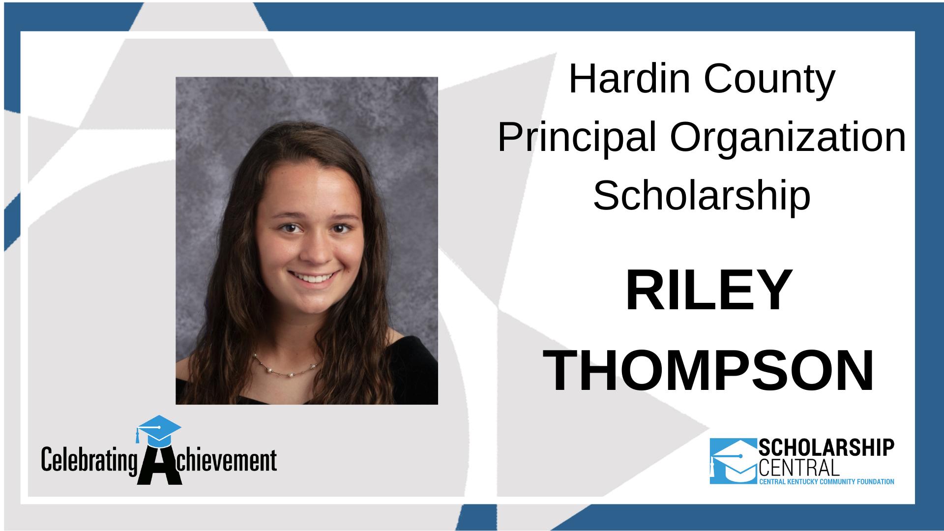 Hardin County Principal Organization Scholarship Winner