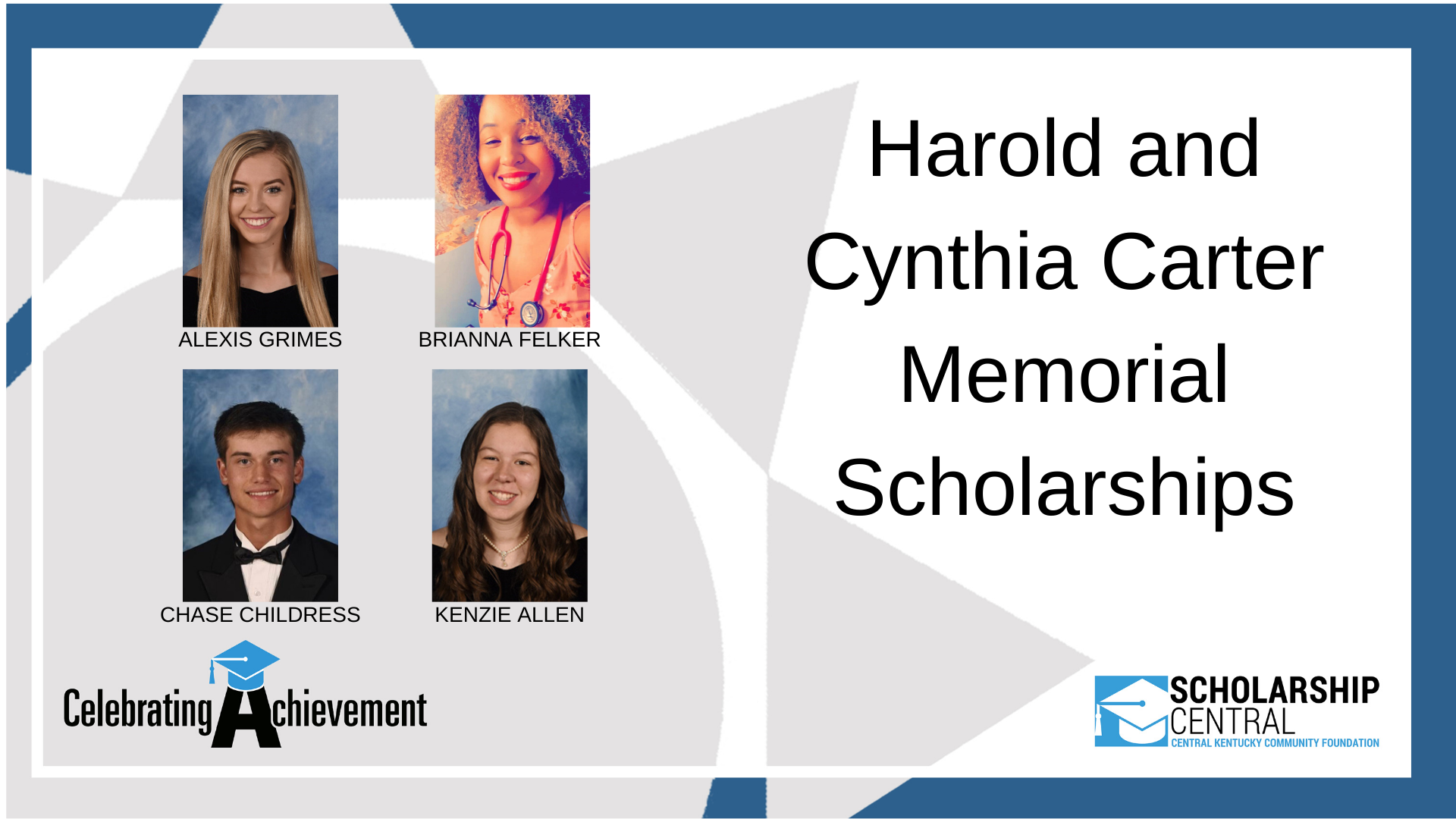 Harold And Cynthia Carter Scholarship1