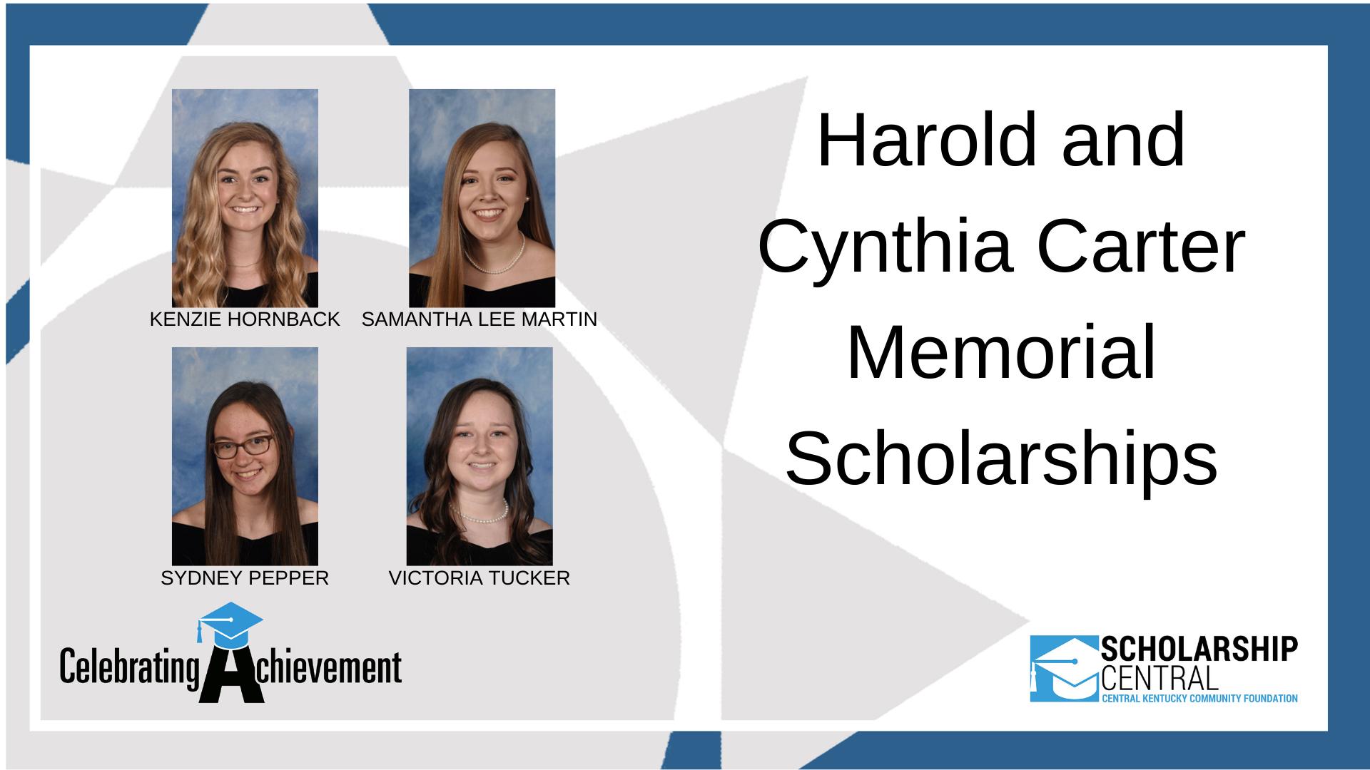 Harold and Cynthia Carter Scholarship2