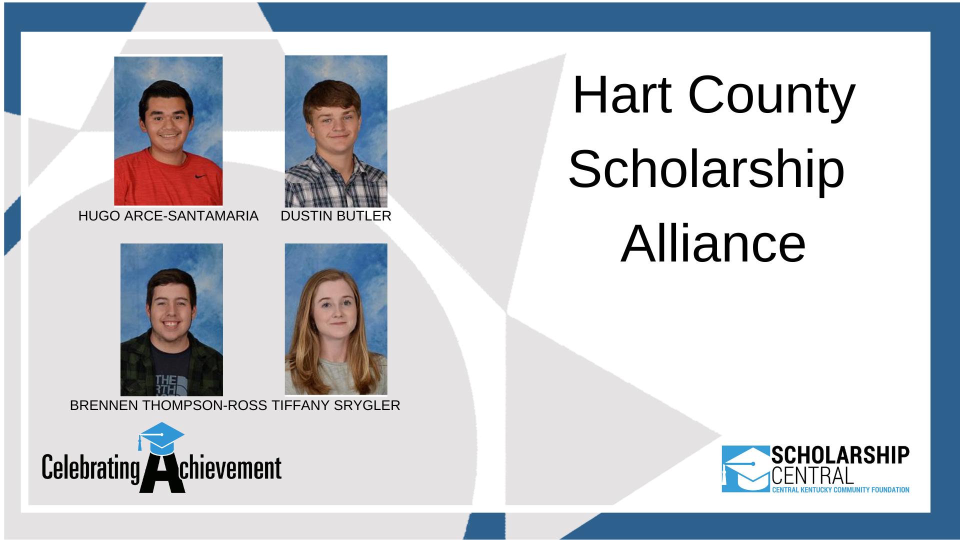 Hart County Alliance Scholarship Winners REVISED
