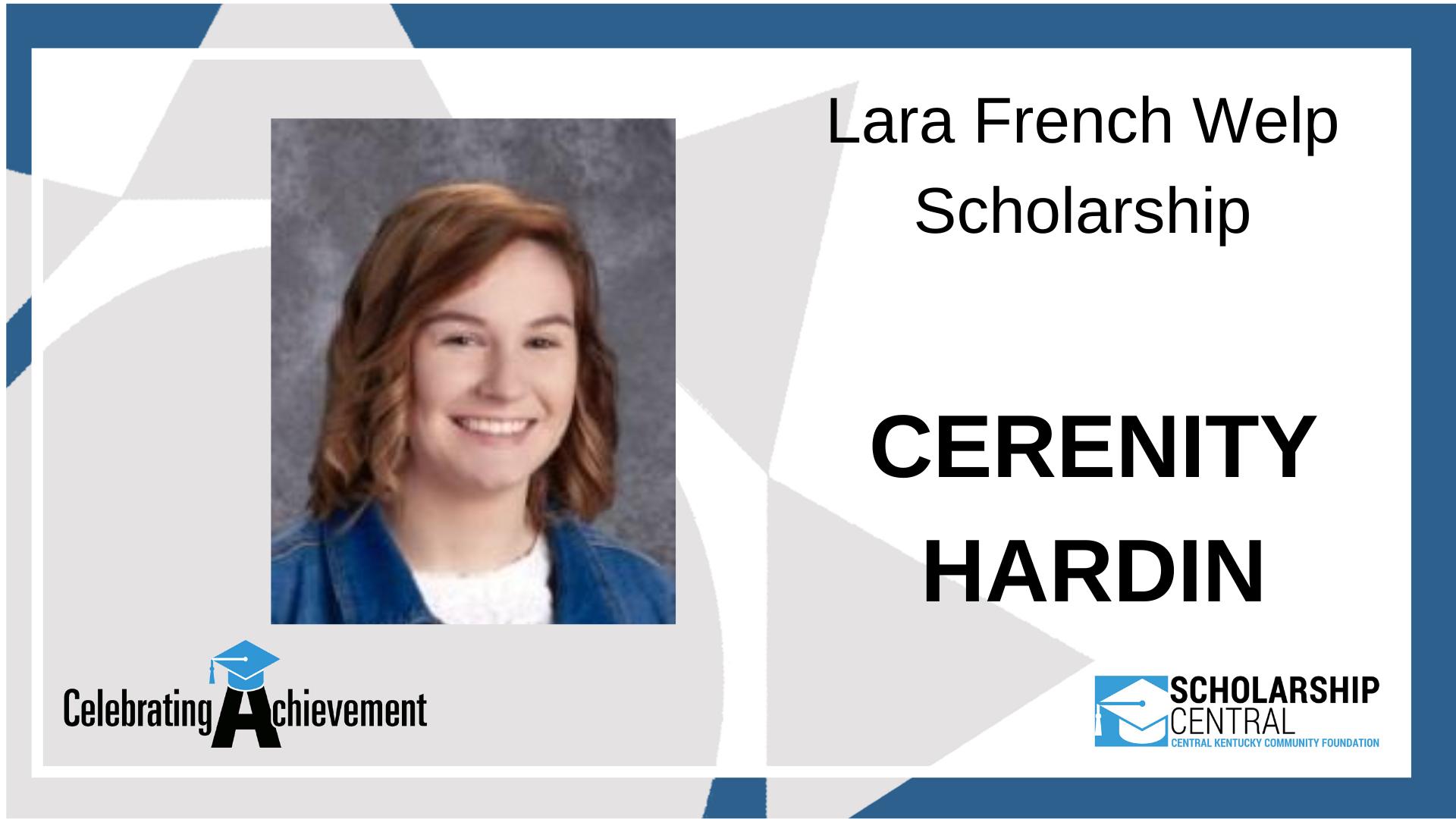 Lara French Welp Scholarship1