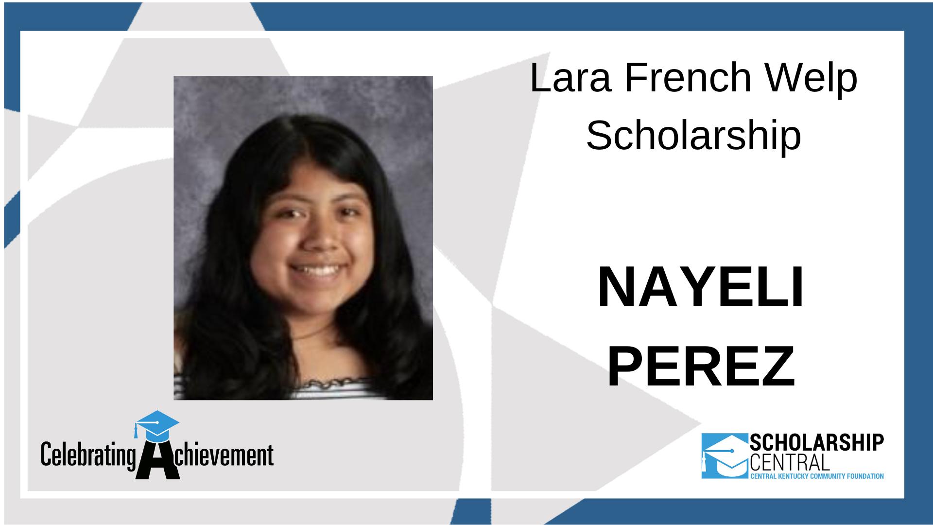 Lara French Welp Scholarship2