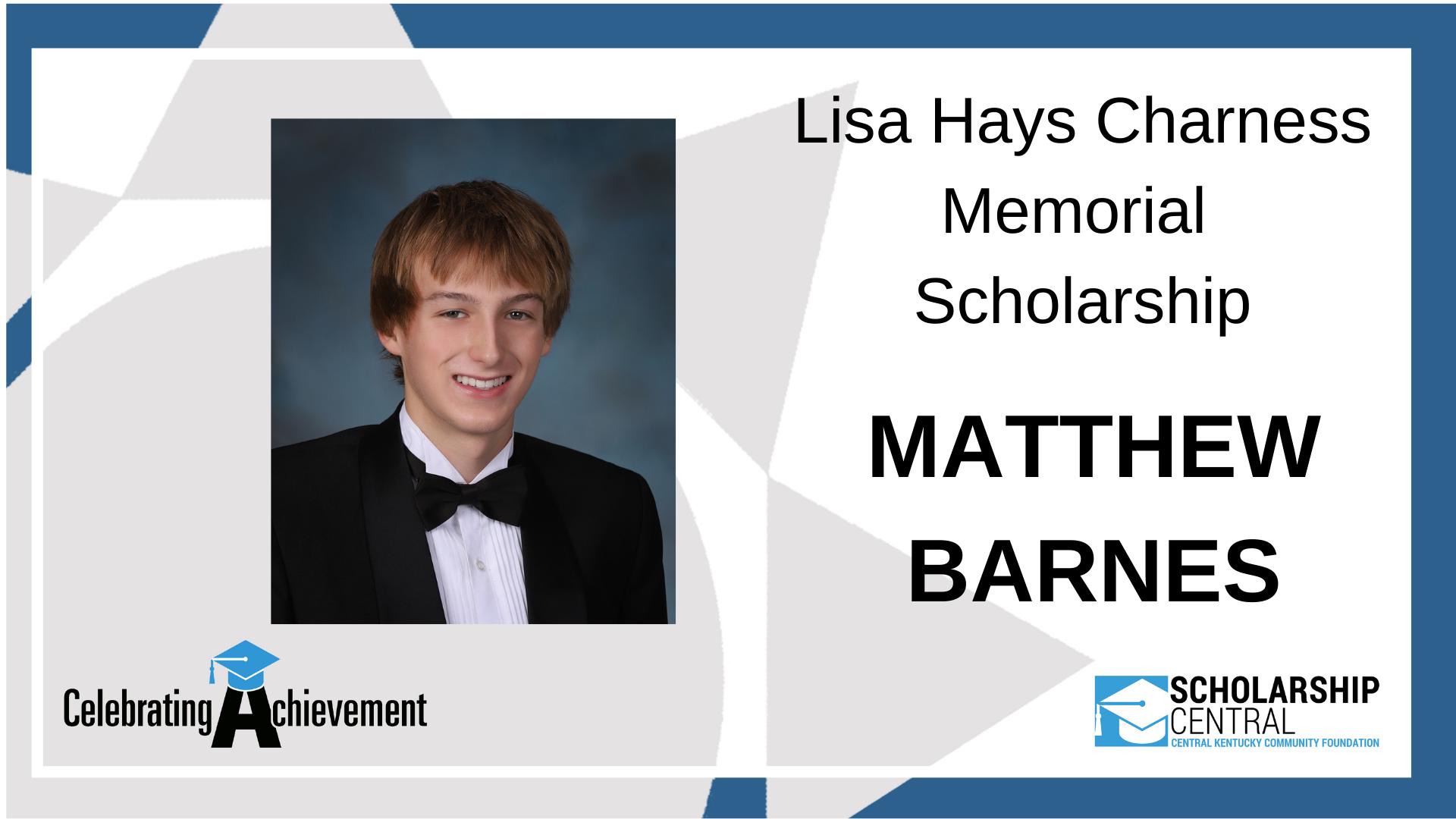 Lisa Hays Charness Memorial Scholarship Winner