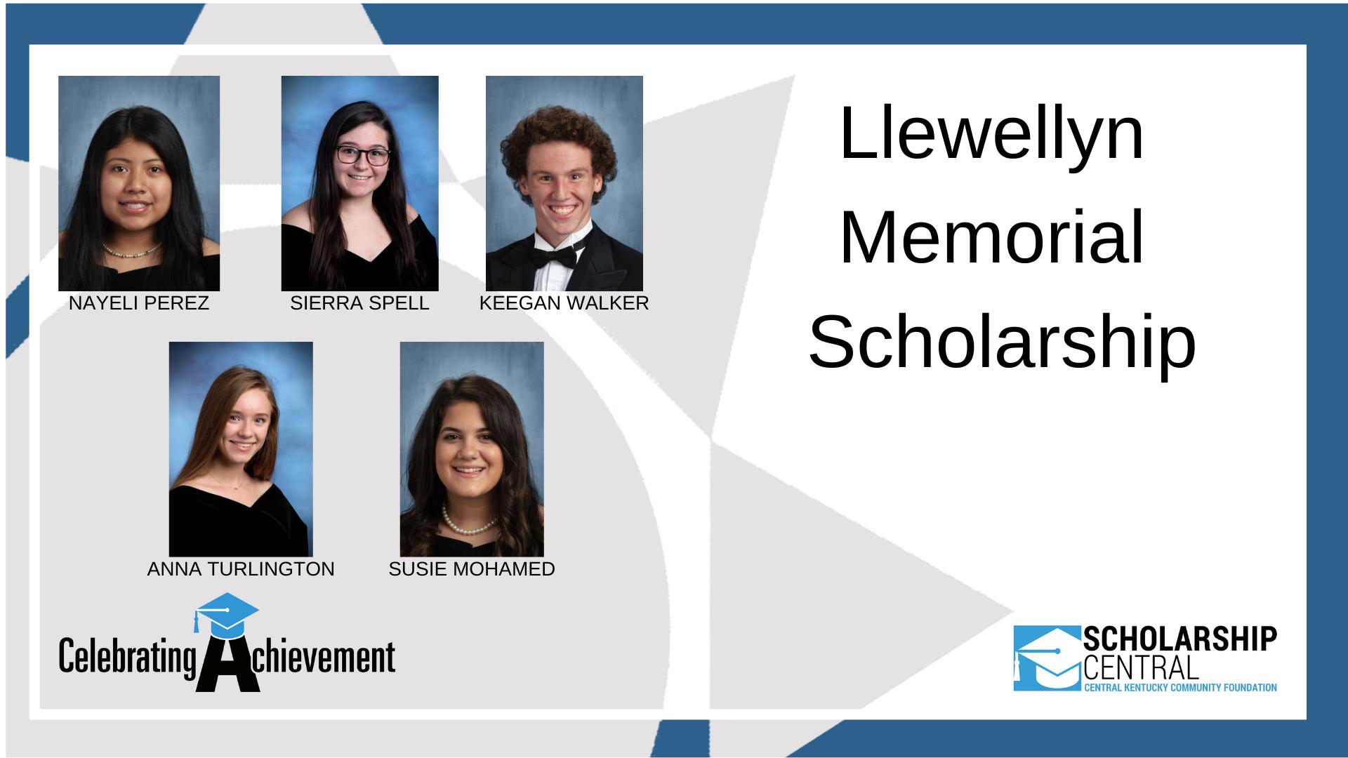 Llewellyn Memorial Scholarship Winners 1