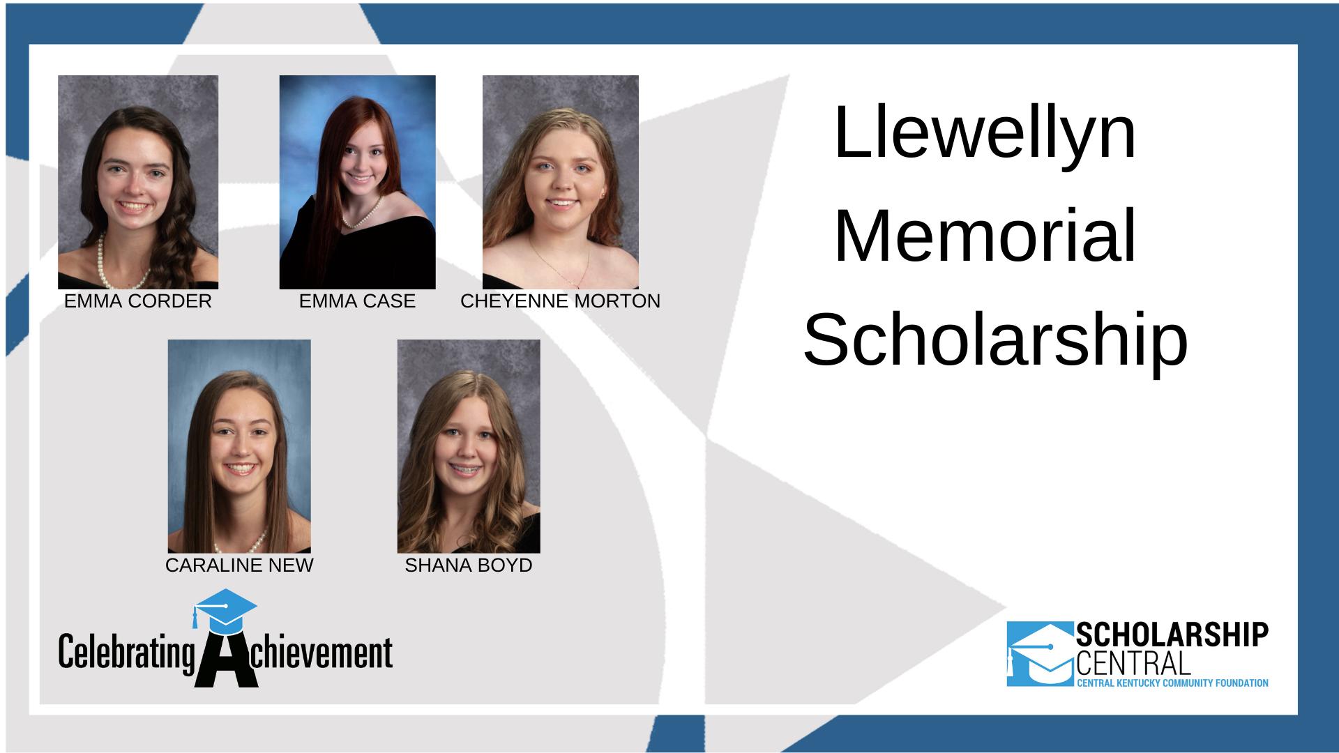 Llewellyn Memorial Scholarship Winners 3