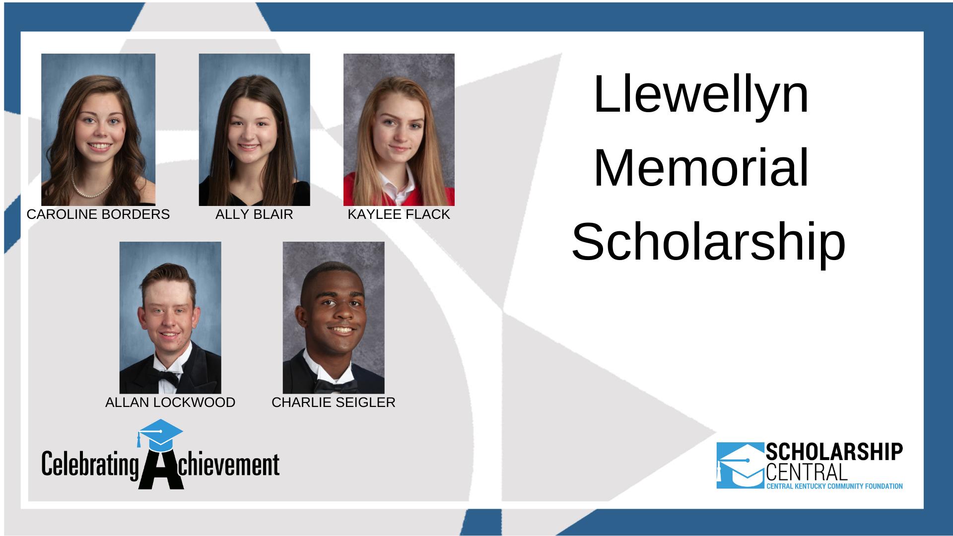Llewellyn Memorial Scholarship Winners 4