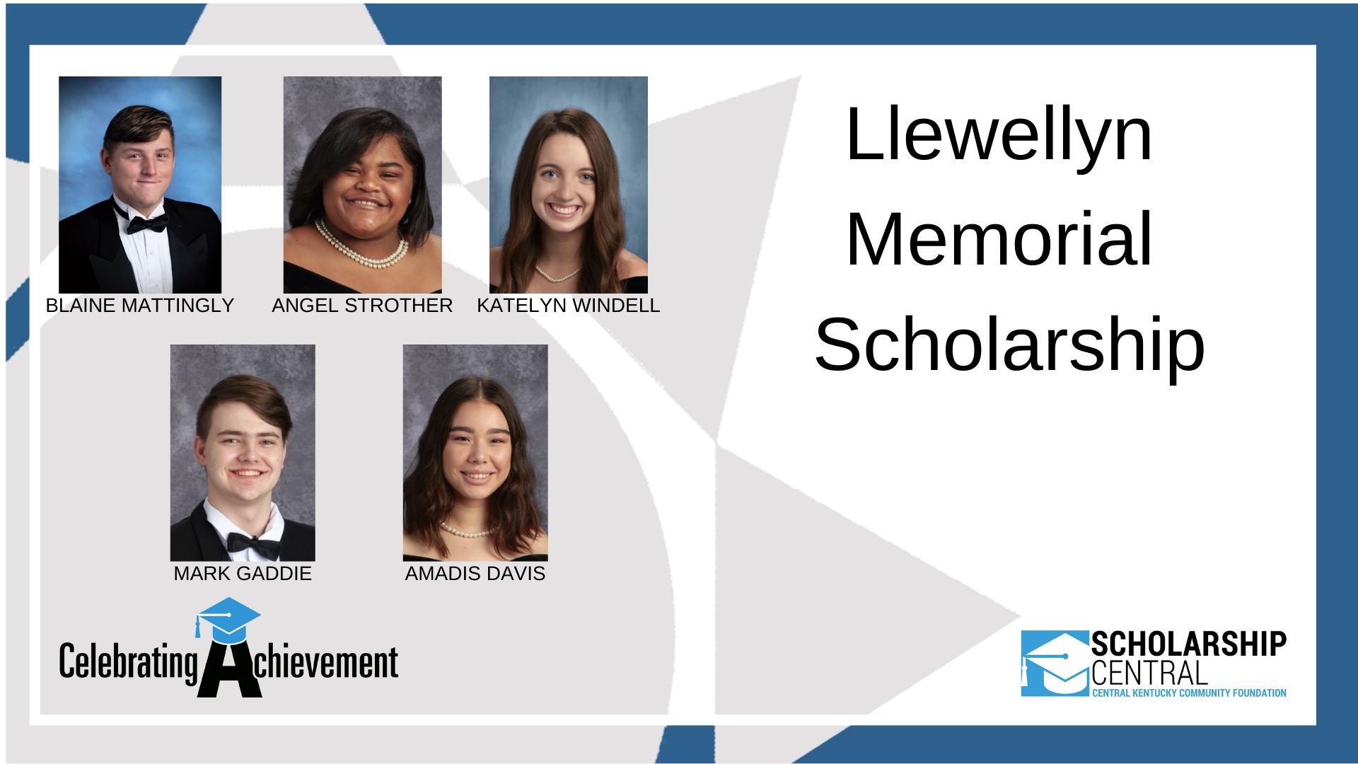 Llewellyn Memorial Scholarship Winners 5