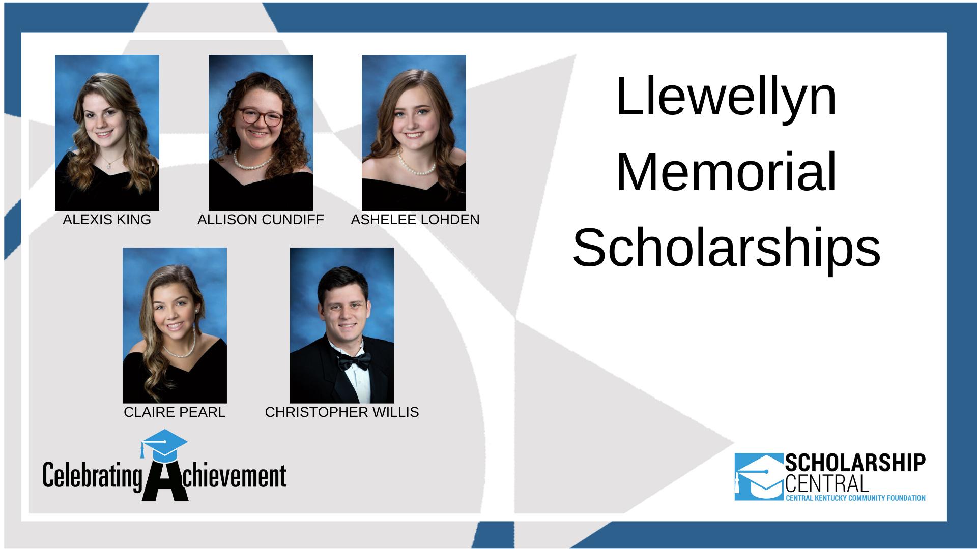 Llewellyn Memorial Scholarship1