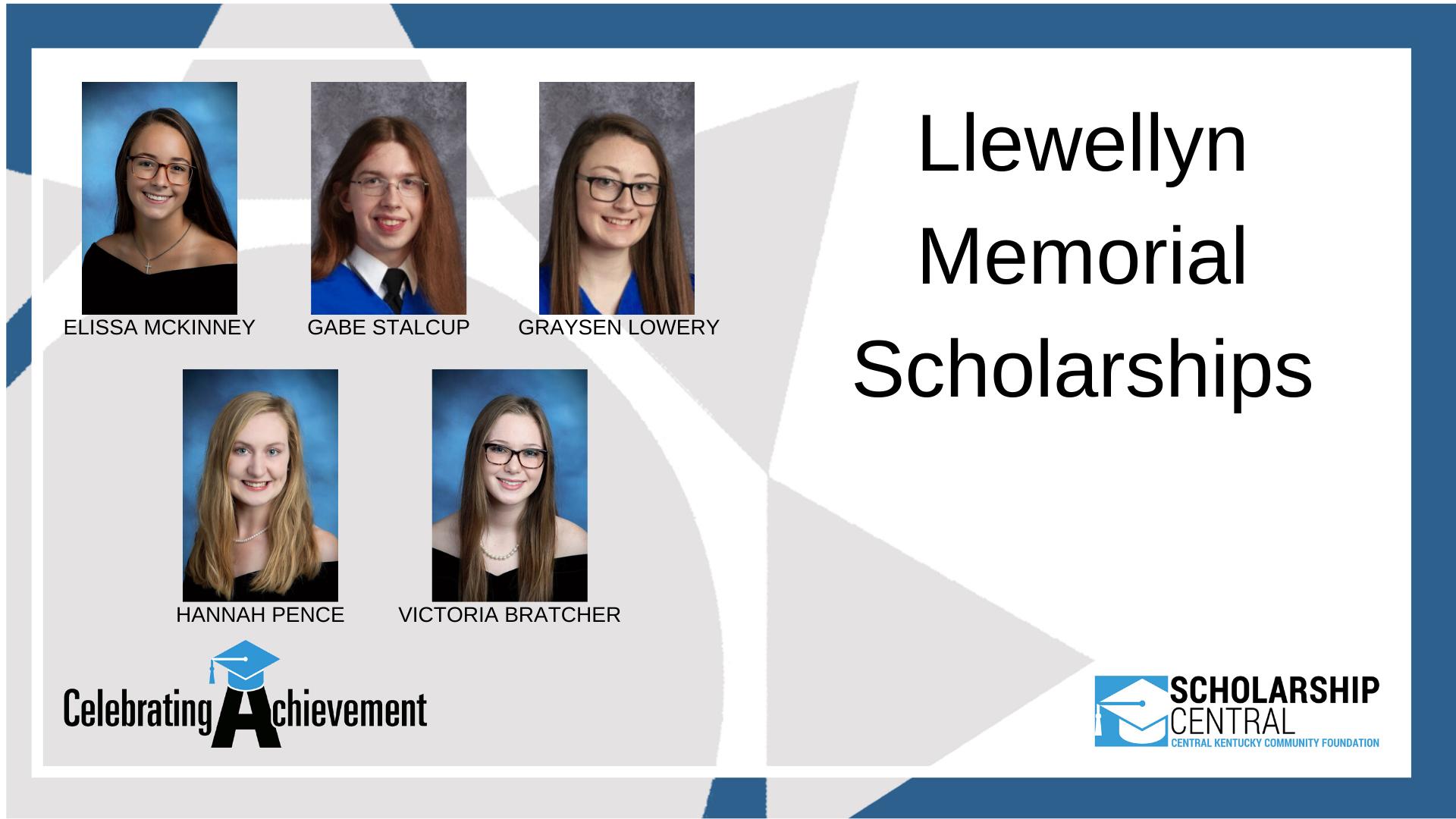 Llewellyn Memorial Scholarship2