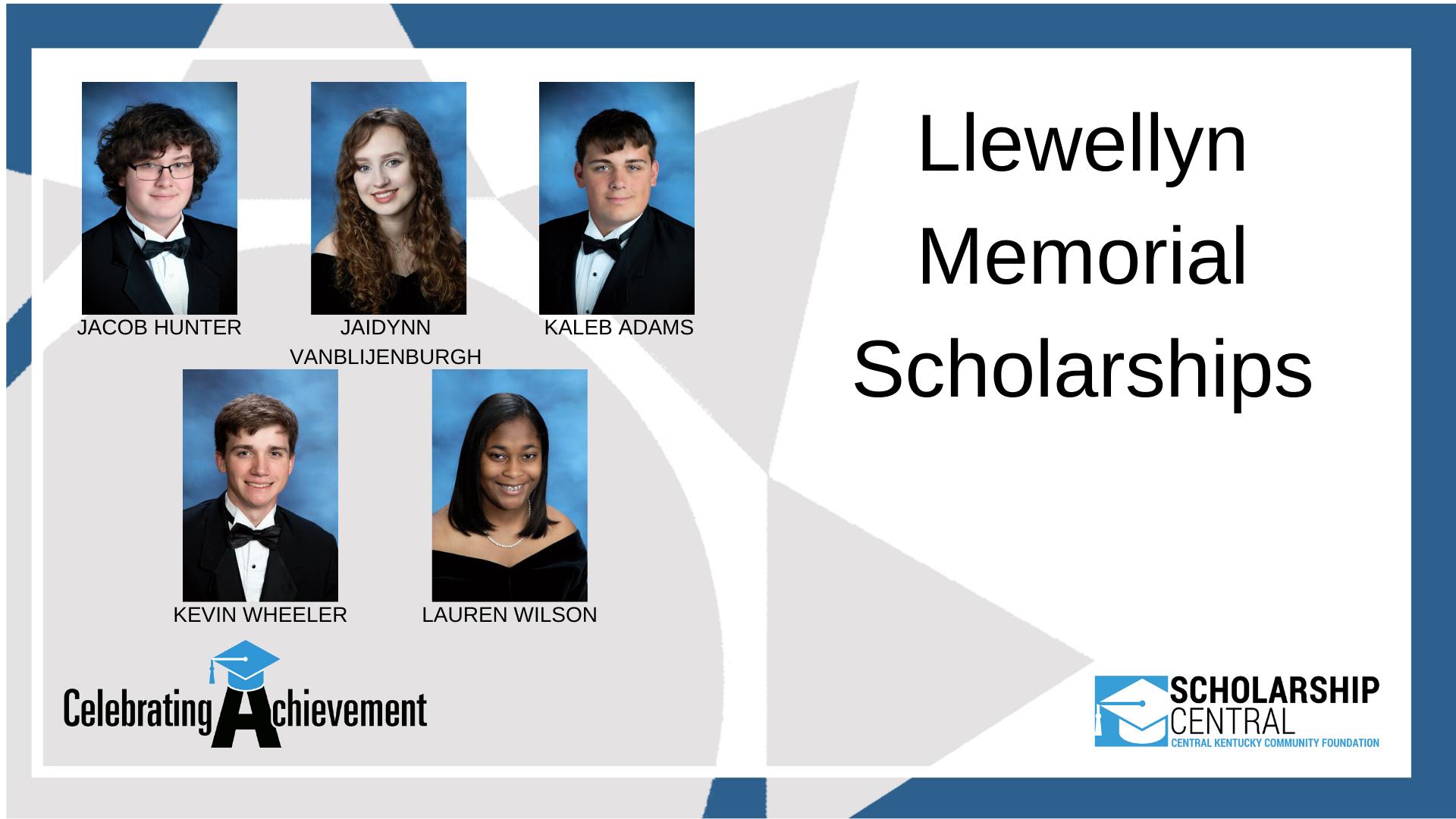 Llewellyn Memorial Scholarship3