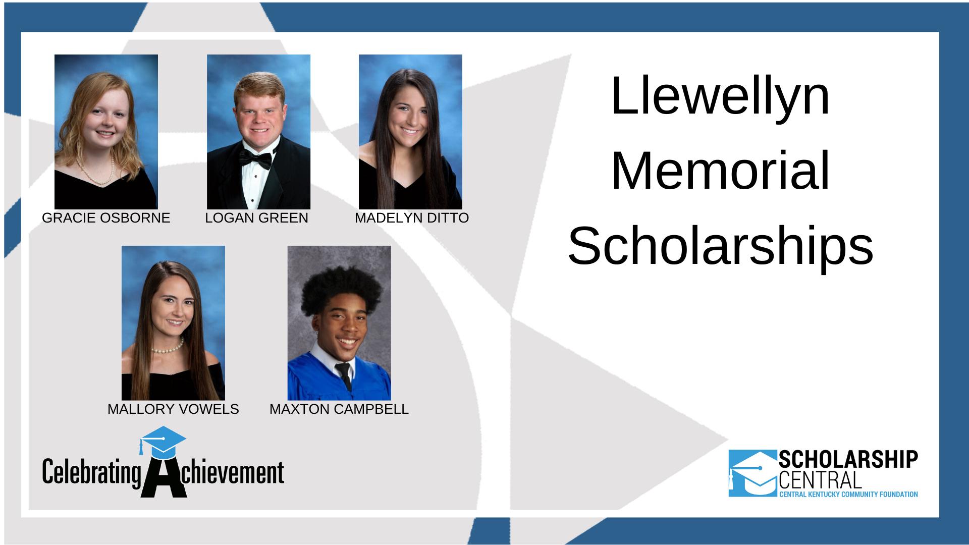 Llewellyn Memorial Scholarship4