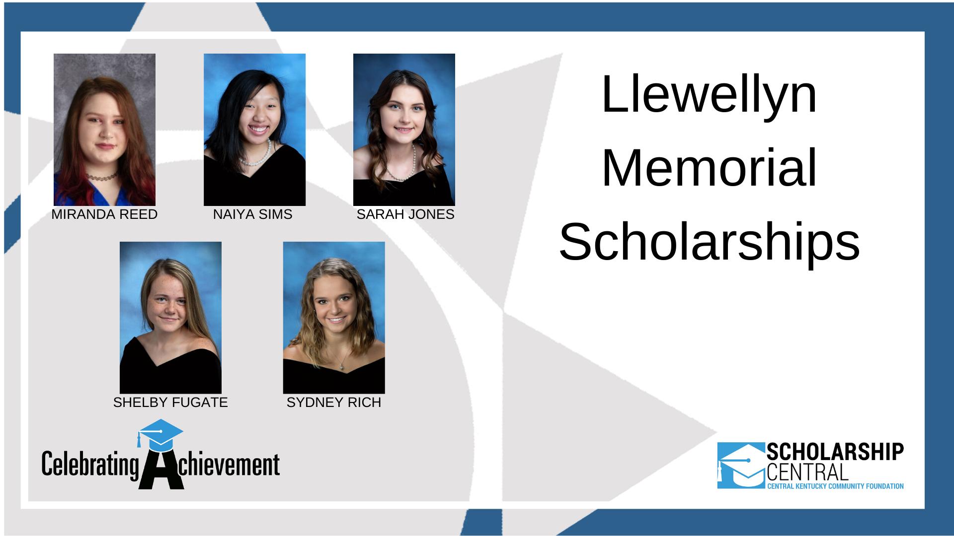 Llewellyn Memorial Scholarship5