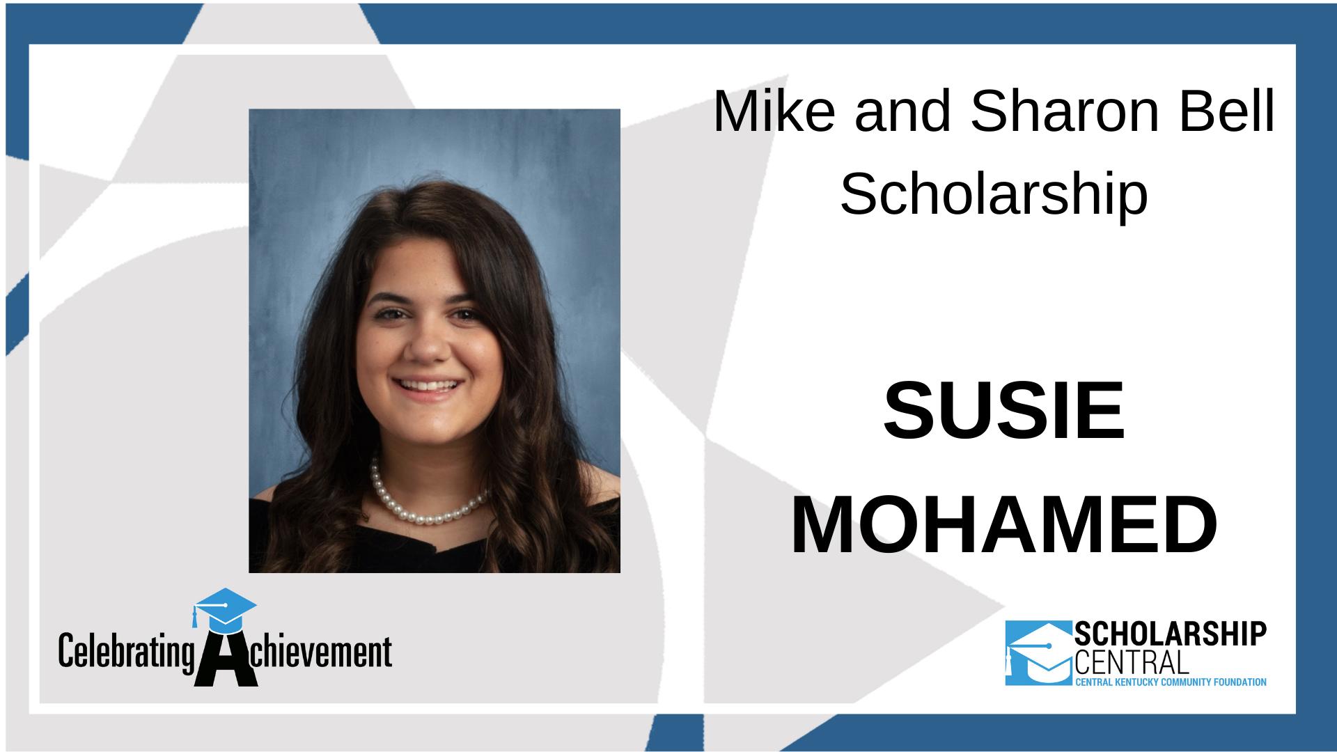 Mike and Sharon Bell Scholarship Winner