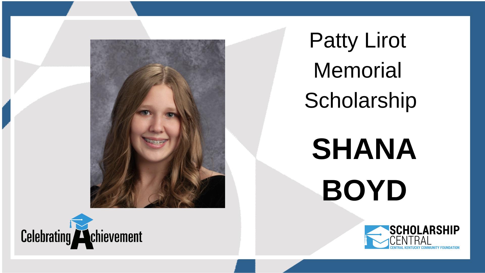 Patty Lirot Memorial Scholarship Winner