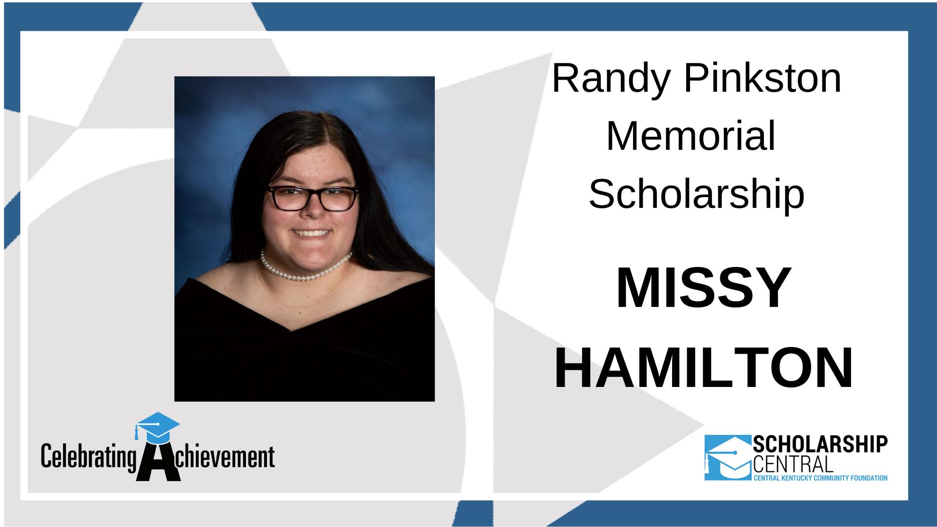 Randy Pinkston Memorial Scholarship Winner