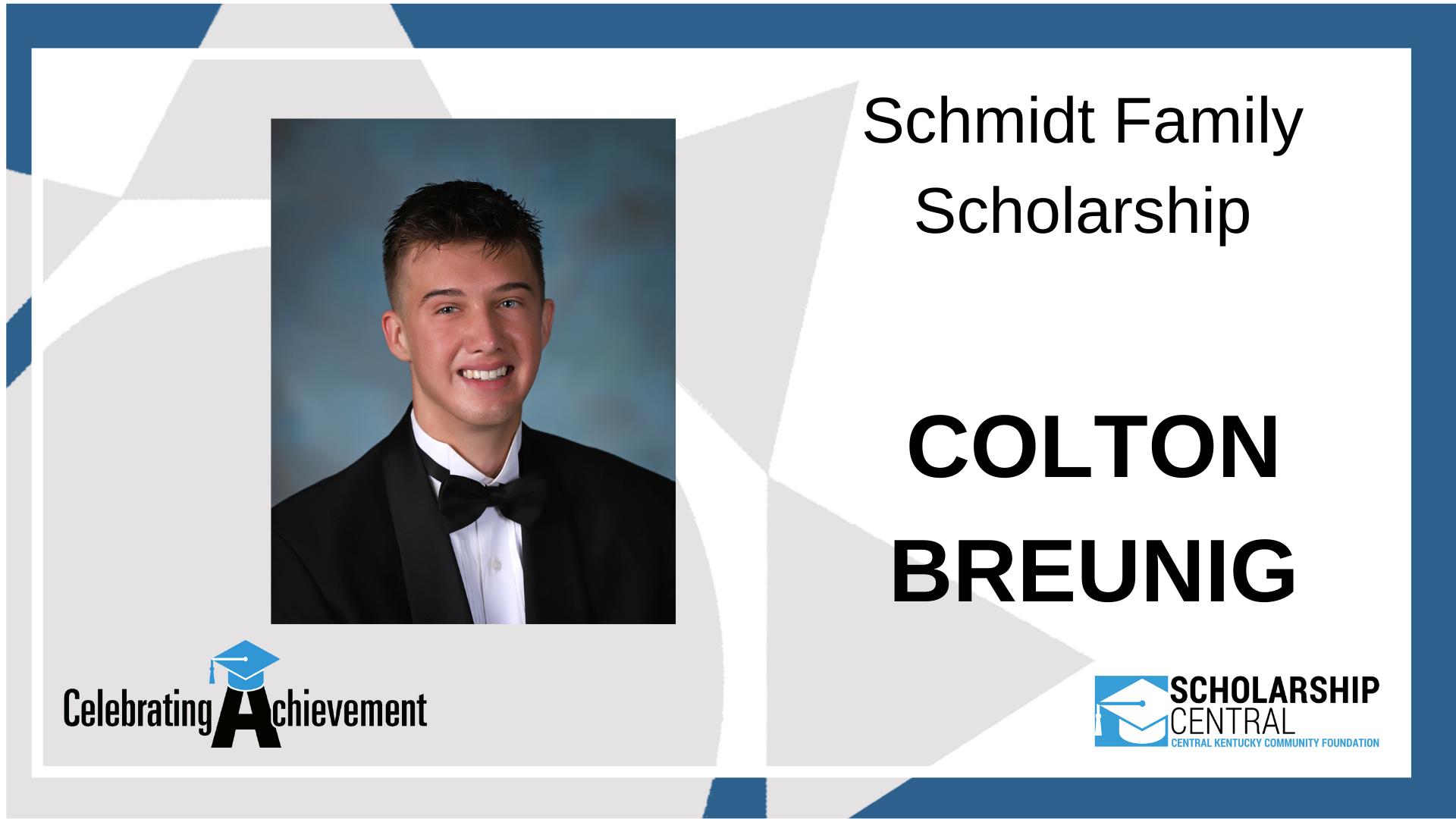 Schmidt Family Scholarship Winner