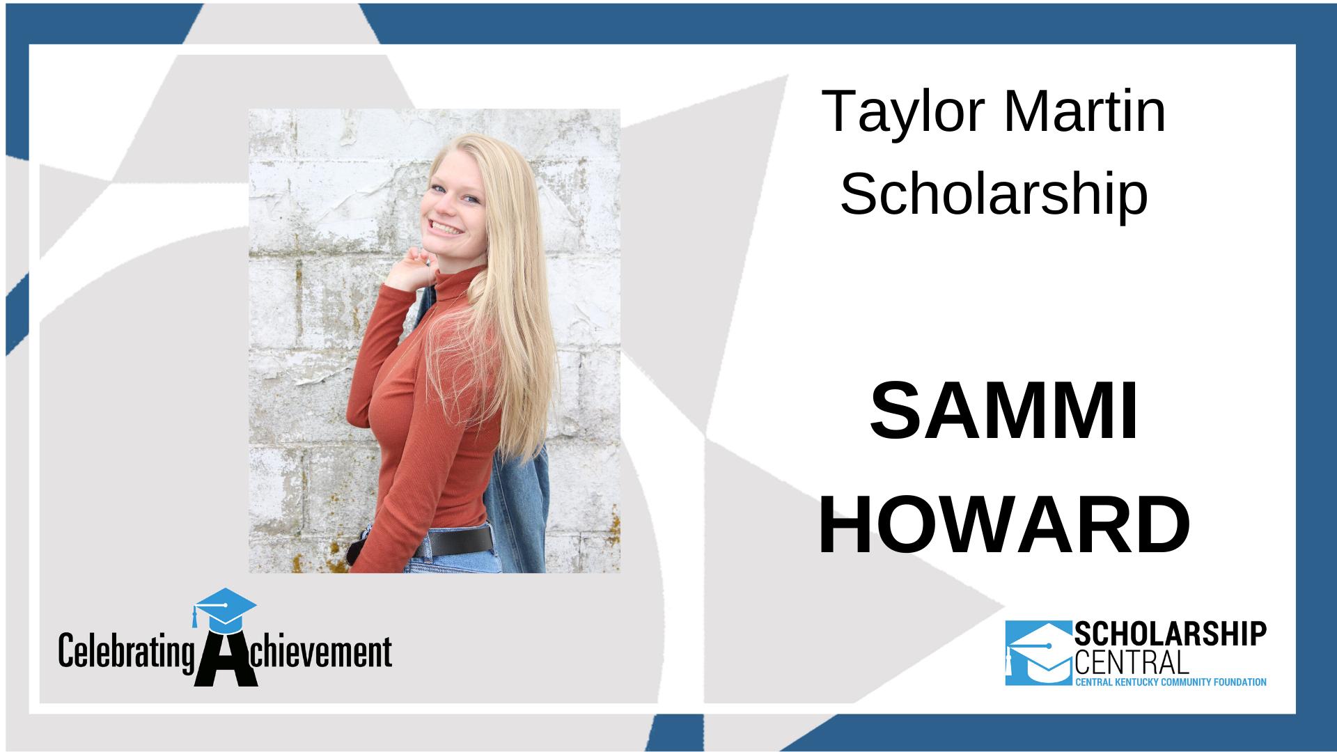 Taylor Martin Scholarship