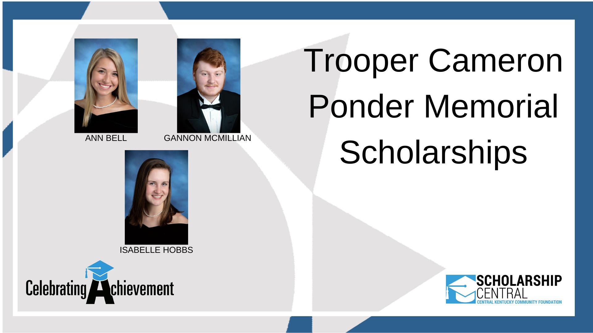 Trooper Cameron Ponder Scholarship1