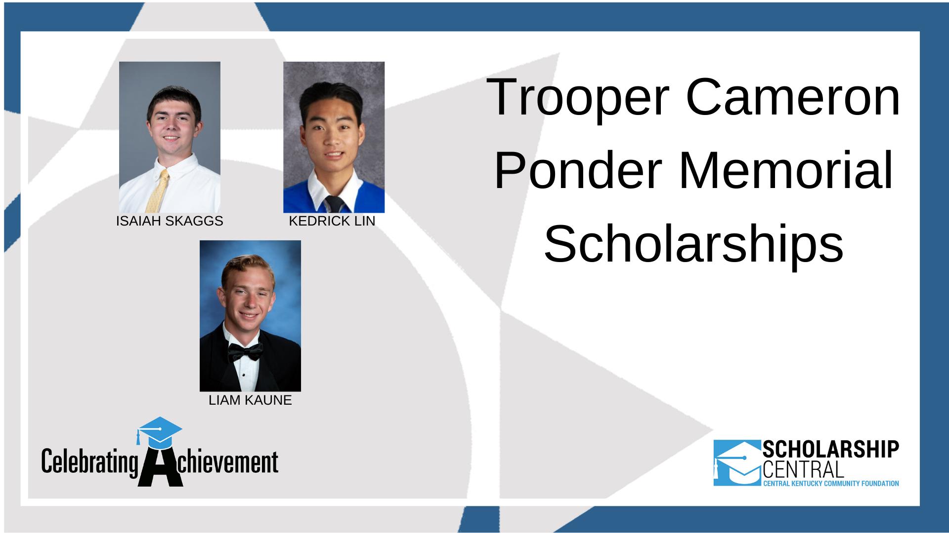 Trooper Cameron Ponder Scholarship2