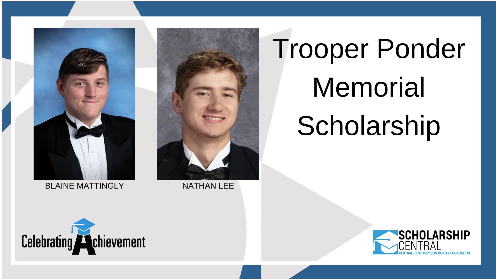 Trooper Ponder Memorial Scholarship Winners