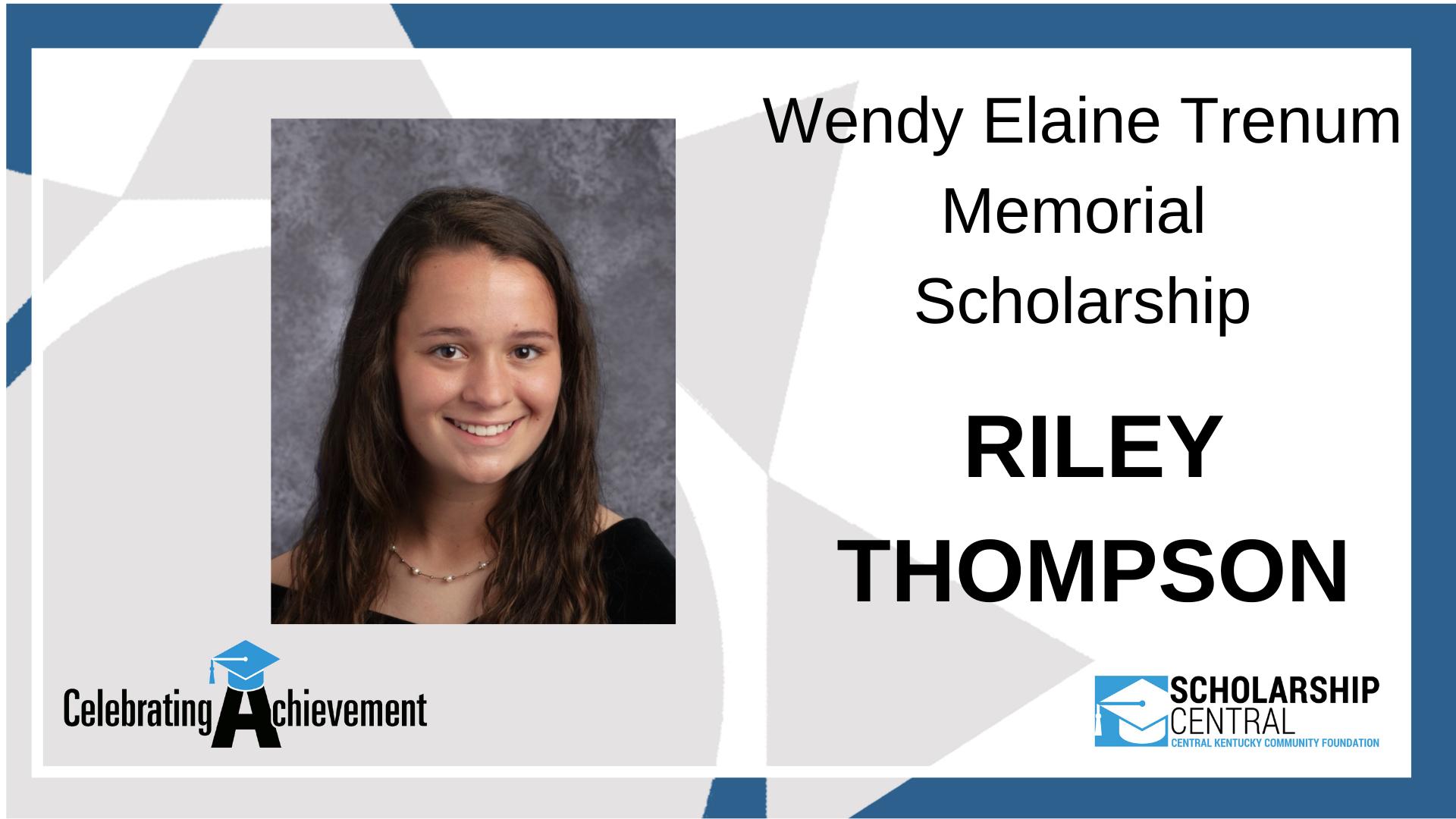Wendy Elaine Trenum Memorial Scholarship Winner